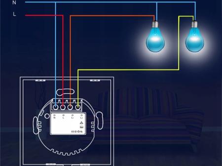 Bezprzewodowy włącznik światła NEO WiFi Tuya podwójny