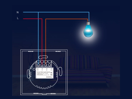 Bezprzewodowy włącznik światła NEO WiFi Tuya pojedyńczy