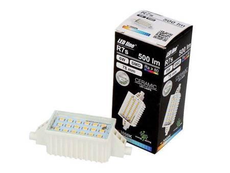 Lampa LED żarnik halogenowy 78mm 6W 230V 3000K biały ciepła