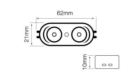 Moduł OPTO LED line® SMD2835 12V 2W 6000-6500K 170°