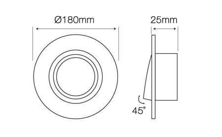 Oprawa aluminiowa AR111  okrągła ruchoma, srebrna