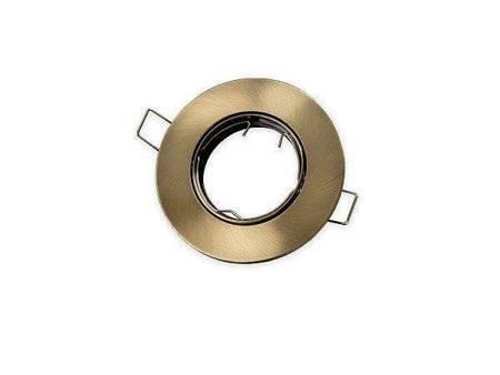 Oprawa halogenowa sufitowa okrągła ruchoma, odlew stopu aluminium - patyna