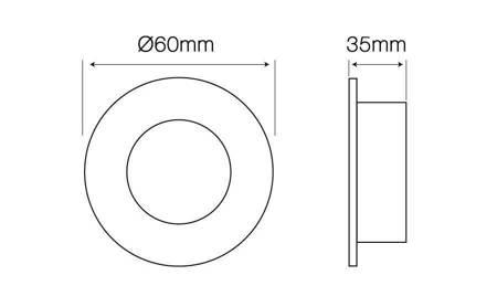 Oprawa halogenowa sufitowa okrągła stała, odlew stopu aluminium, MR11 - biała matowa