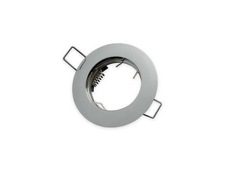 Oprawa halogenowa sufitowa okrągła stała, odlew stopu aluminium  - chrom