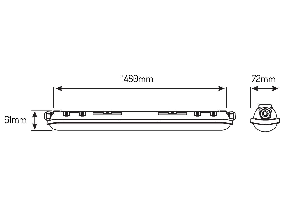 Oprawa hermetyczna liniowa TRI-PROOF 55W 220-240V 4000K LINKER