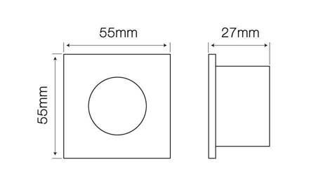 Oprawa sufitowa wodoodporna hermetyczna MR11 kwadratowa grafit