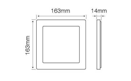 Panel LED line® Easy Fix kwadrat 12W 850lm 2700K biała ciepła