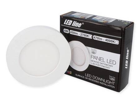 Panel LED line® EasyFix 6W 450lm 2700K biała ciepła