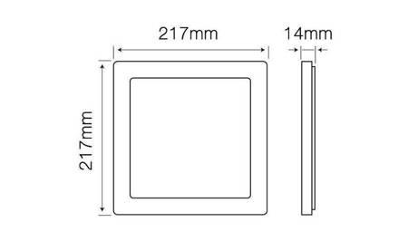 Panel LED line® EasyFix kwadrat 18W 1450lm 4000K biała dzienna