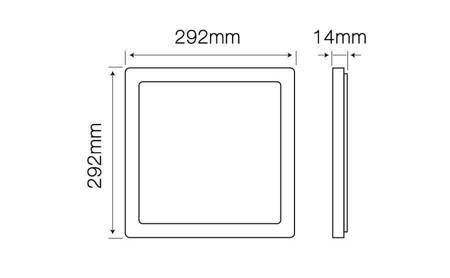 Panel LED line® EasyFix kwadrat 24W 2300lm 4000K biała dzienna