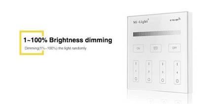 Panel naścienny MI-LIGHT T1 MONO 4-strefowy