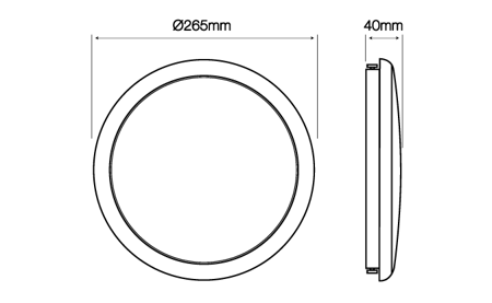 Plafon LED line® LUNAR okrągły 220-240V 16W 1360lm 4000K biała dzienna IP65 z czujnikiem ruchu