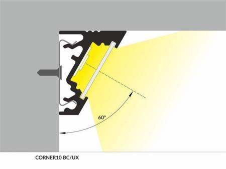 Profil narożny do taśm LED Corner10 BC/UX anodowany 1 metr