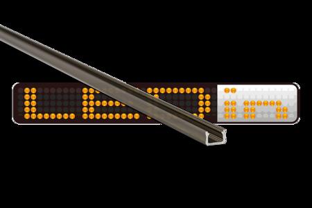 Profil nawierzchniowy SLIM INOX anodowany typ X 1 metr