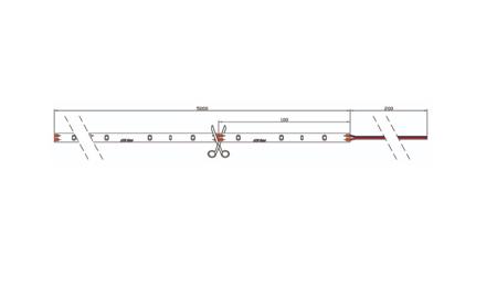 Taśma LED line 150 SMD 3528 biała ciepła 2865-3025K 5 metrów