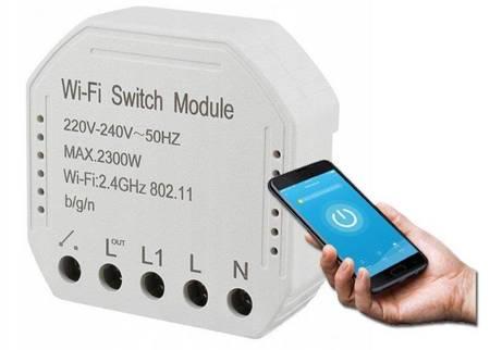 WiFi Switch Module TUYA Gniazdko Włącznik Przekaźnik dupuszkowy