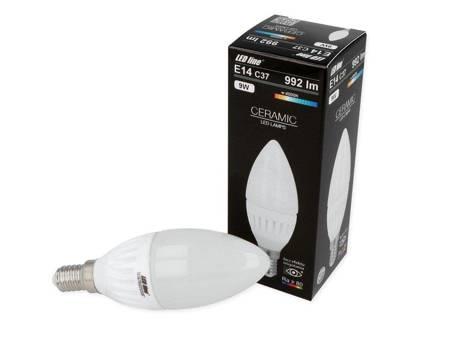 Żarówka LED E14  230V 9W 992lm C37 4000K biała dzienna świeczka