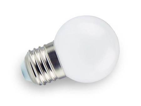 Żarówka LED E27 230V 1W G45 3000K biała ciepła