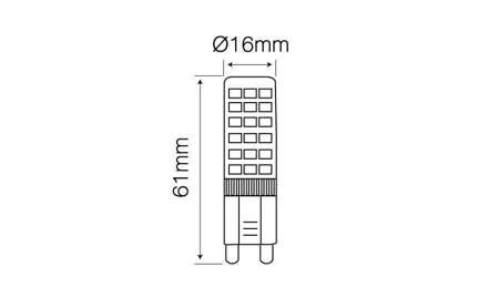 Żarówka LED G9 230V 6W 4000K biała dzienna