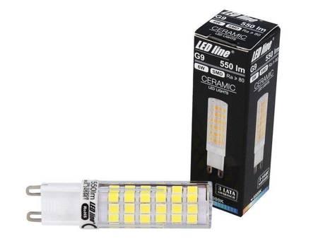 Żarówka LED G9 230V 6W 6000K biała zimna