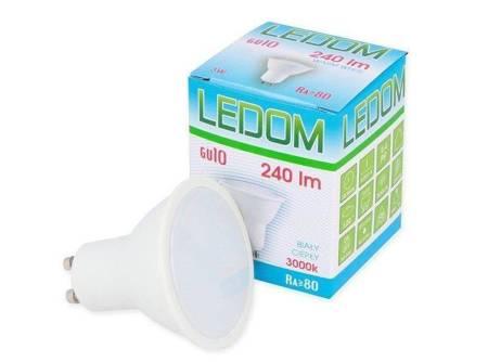 Żarówka LED GU10 220-240V 3W 240lm 3000K biała ciepła