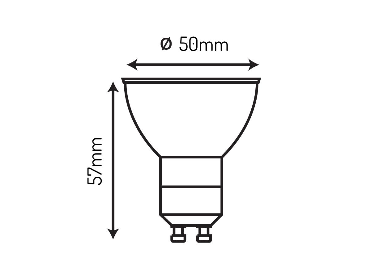 Żarówka LED SMD GU10 1W 220-260V 80lm 6500K biała zimna