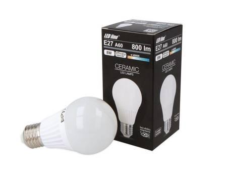 Żarówka LED line E27 170-250V 8W 800LM biała dzienna 4000K A60