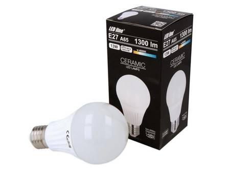 Żarówka LED line E27 230V 13W 1300lm 4000K A65 biała dzienna