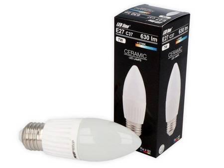 Żarówka LED line E27 C37 170-250V 7W 630lm 2700K biała ciepła
