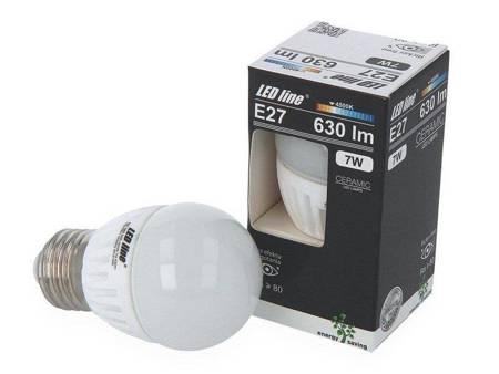 Żarówka LED line  E27 SMD 170~250V AC 7W 630lm 4000K  biała dzienna