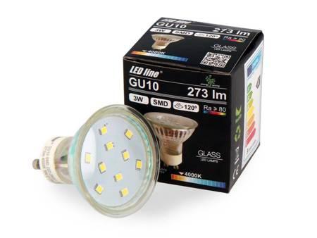 Żarówka LED line GU10 SMD 220-260V 3W 273lm 120° biała dzienna 4000K