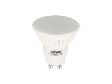 Żarówka LED line® GU10 SMD 170-250V 10W 1000lm 6500K biała zimna