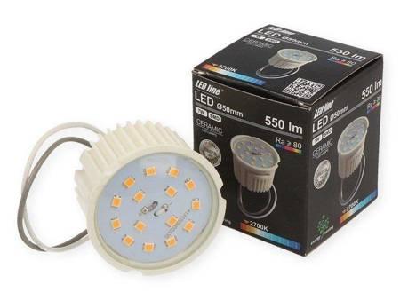 Żarówka LED line płaska meblowa 50mm 230V 7W 550lm ŚCIEMNIALNA biała ciepła 2700K
