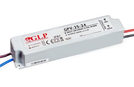 Zasilacz LED GPV-35-24 1,5A 36W 24V, IP67