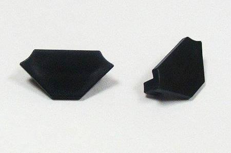 Zaślepka 1 sztuka do profilu narożnego Lumines typ C czarna