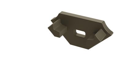 Zaślepka 1 sztuka do profilu narożnego Lumines typ C inox z otworem