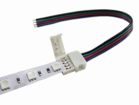 Złączka CLICK pojedyncza do taśm LED RGB 10mm + przewód 14cm