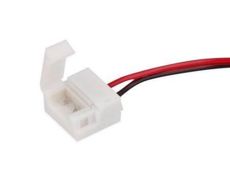 Złączka CLICK pojedyncza do taśm LED wodoodpornych 10mm + przewód